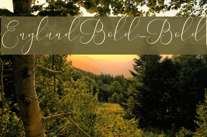 EnglandBold-Bold フォント examples