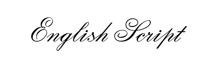 English Script  Descarca Fonturi Gratis