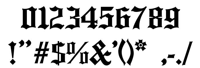 English Towne Medium Font - free fonts downloadOld English Numbers