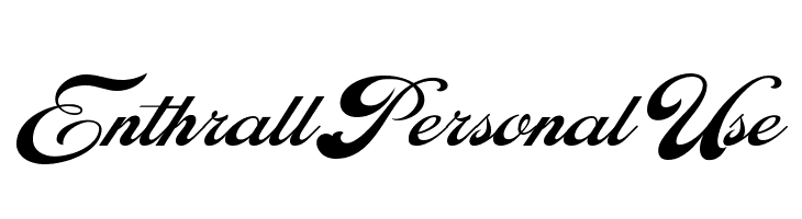 Enthrall Personal Use  Free Fonts Download