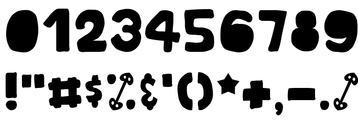 EoSD U.N. Owen Hand Font OTHER CHARS