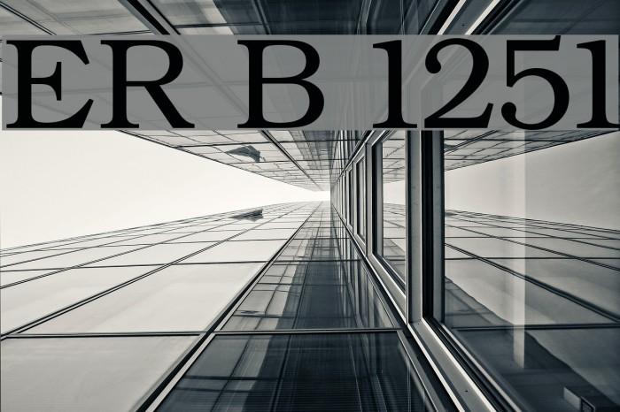 ER Bukinist 1251 Font examples