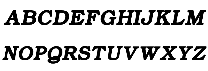ER Bukinist 866 Bold Italic फ़ॉन्ट अपरकेस