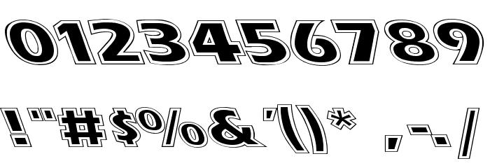 Eras Contour Lefty Wide Font OTHER CHARS
