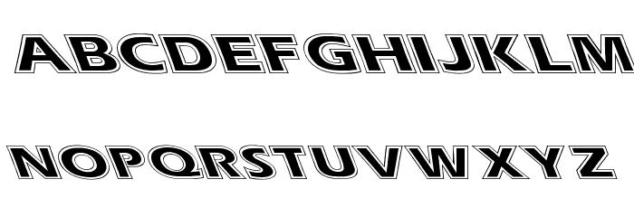 Eras Contour Lefty Wide Font UPPERCASE