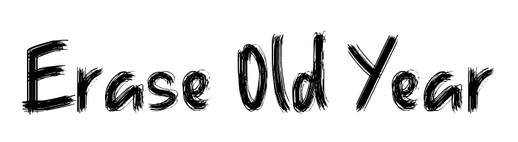 Erase Old Year لخطوط تنزيل