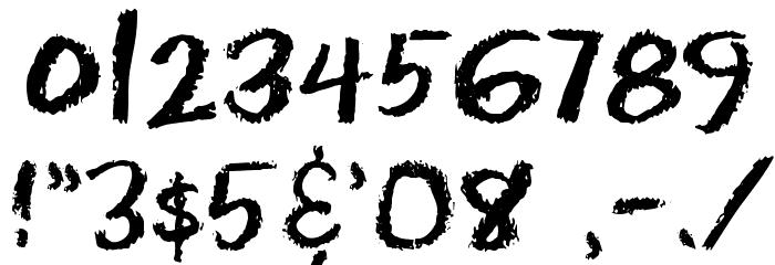 Eraser Dust Font OTHER CHARS