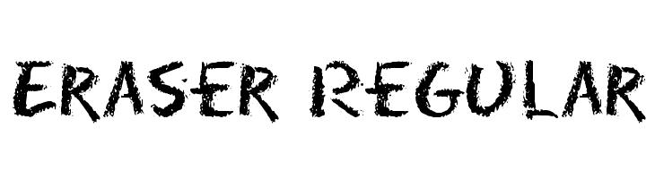 Eraser Regular  Free Fonts Download