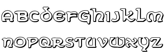 Erin Go Bragh 3D Font LOWERCASE