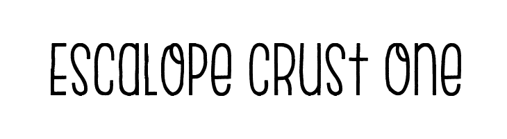 Escalope Crust One Шрифта