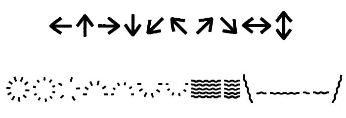 Escalope Crust Three Icons Шрифта ДРУГИЕ символов