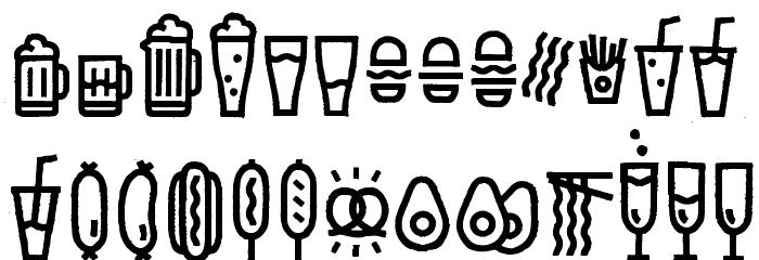 Escalope Crust Three Icons Шрифта ВЕРХНИЙ