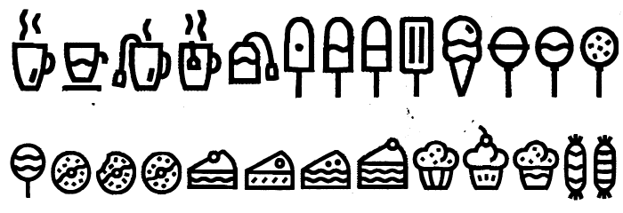 Escalope Crust Three Icons Шрифта строчной