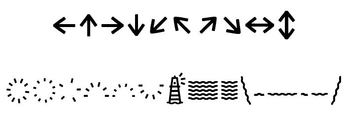 EscalopeCrustOne-Icons Шрифта ДРУГИЕ символов