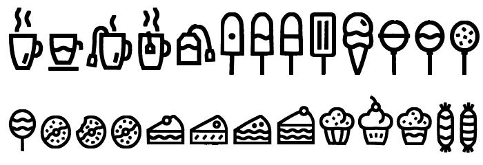 EscalopeCrustOne-Icons Шрифта строчной