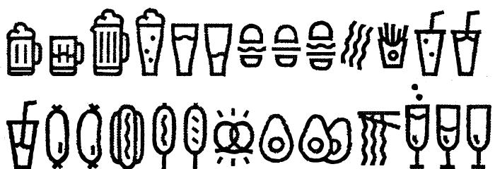 EscalopeCrustTwo-Icons Шрифта ВЕРХНИЙ