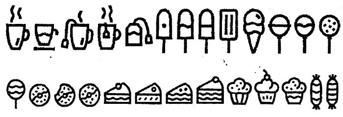 EscalopeCrustTwo-Icons Шрифта строчной