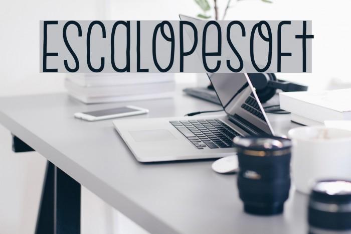 EscalopeSoft Шрифта examples