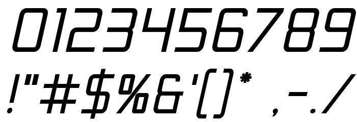 Escape Artist Bold Semi-Italic Шрифта ДРУГИЕ символов
