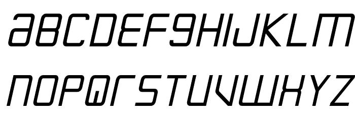 Escape Artist Bold Semi-Italic Font UPPERCASE
