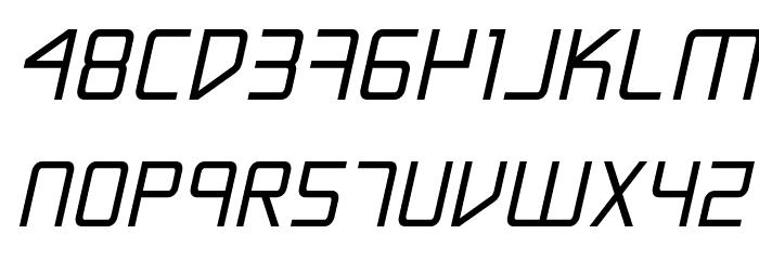 Escape Artist Bold Semi-Italic Font LOWERCASE