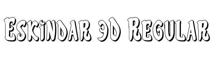 Eskindar 3D Regular  नि: शुल्क फ़ॉन्ट्स डाउनलोड