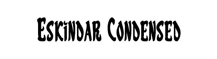 Eskindar Condensed  नि: शुल्क फ़ॉन्ट्स डाउनलोड