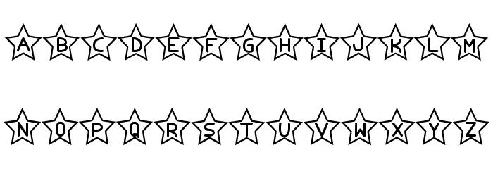 Estrellado tfb Font UPPERCASE