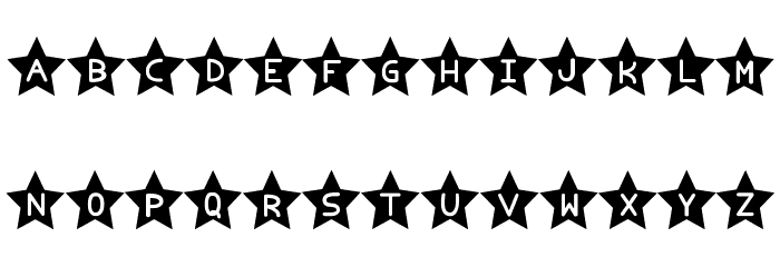 Estrellado tfb Font LOWERCASE