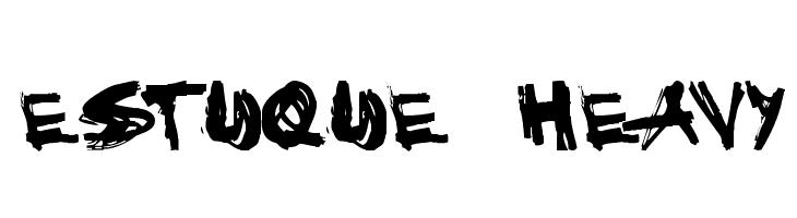 Estuque  Heavy  Free Fonts Download