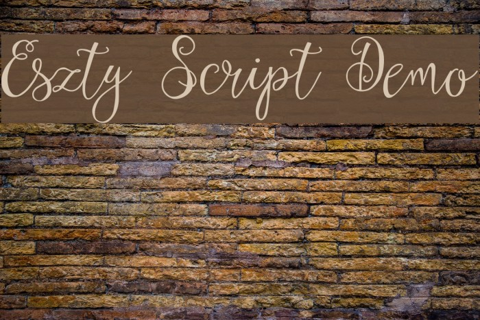 Eszty Script Demo फ़ॉन्ट examples