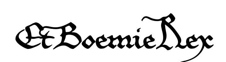 EtBoemieRex  Скачать бесплатные шрифты