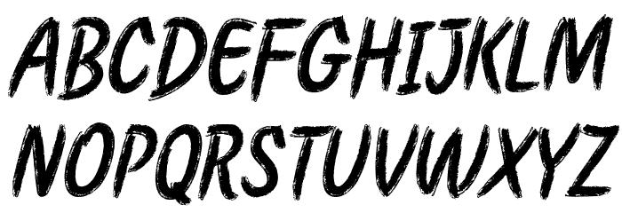 Etchas Italic Font UPPERCASE