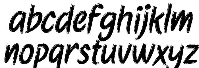 Etchas Italic Font LOWERCASE