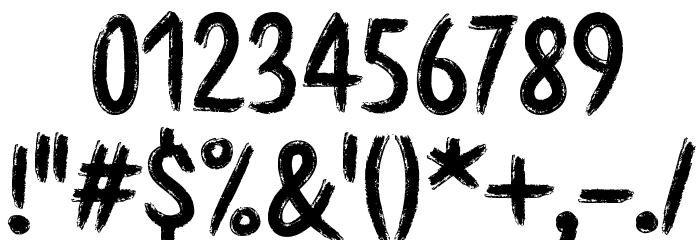 Etchas Шрифта ДРУГИЕ символов