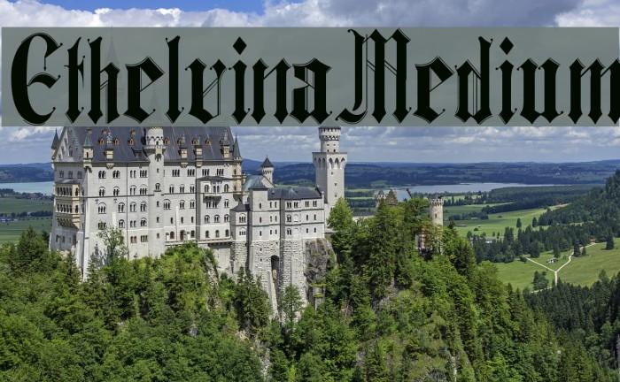 Ethelvina_Medium 字体 examples