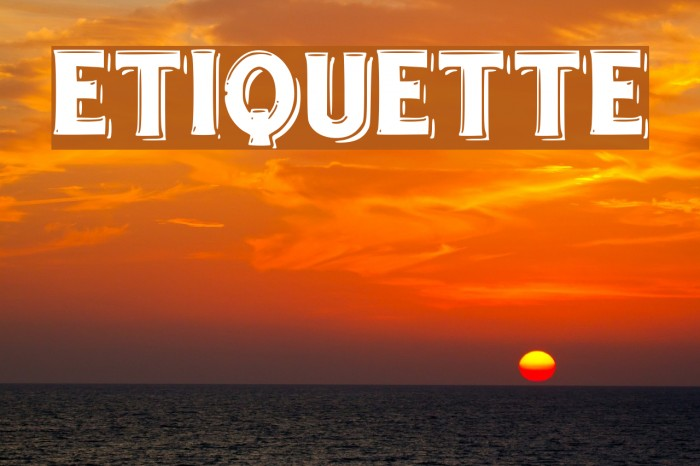 etiquette Font examples