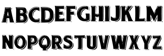 etiquette Font LOWERCASE