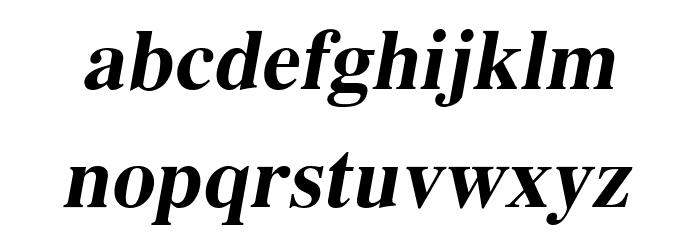 EucrosiaUPC Bold Italic Font Litere mici