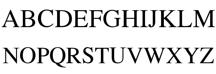 EucrosiaUPC फ़ॉन्ट अपरकेस
