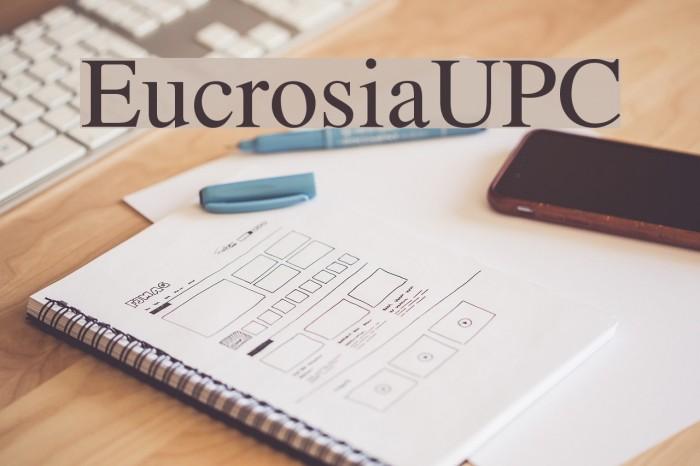 EucrosiaUPC फ़ॉन्ट examples