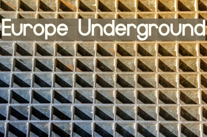 Europe Underground Font examples
