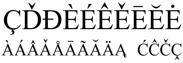 European Serif फ़ॉन्ट अन्य घर का काम