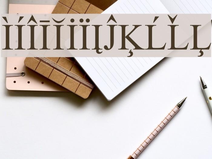 European Serif Font examples
