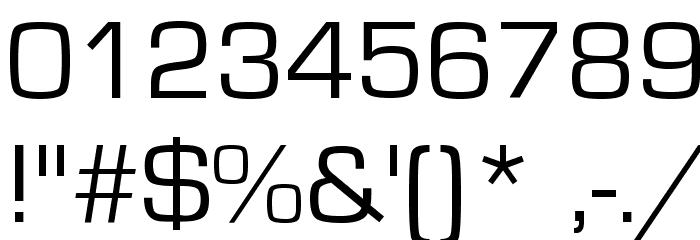 Eurostile Font OTHER CHARS