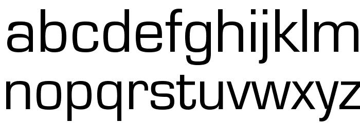 Eurostile Font LOWERCASE