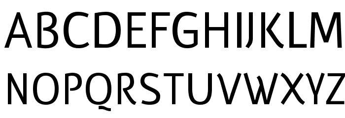 Eutelia फ़ॉन्ट अपरकेस