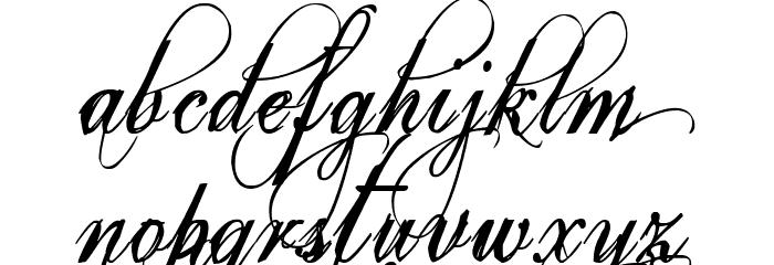 Eutemia I Italic Font LOWERCASE