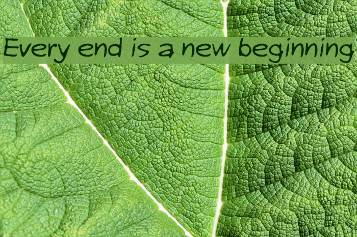 Every end is a new beginning Шрифта examples