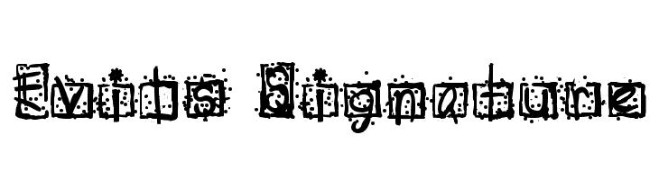 Evils Signature  नि: शुल्क फ़ॉन्ट्स डाउनलोड